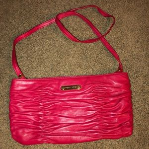 Michael Kors Red Leather Webster purse